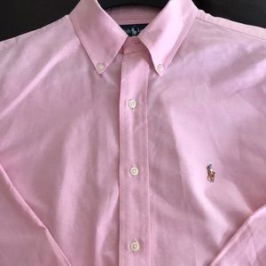 Ralph Lauren Polo Pink Oxford Shirt 15 1/2 33